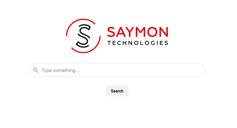 SAYMON Search start page